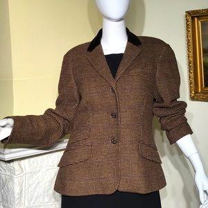 Chaps Ralph Lauren Classic Tweed Equestrian Jacket